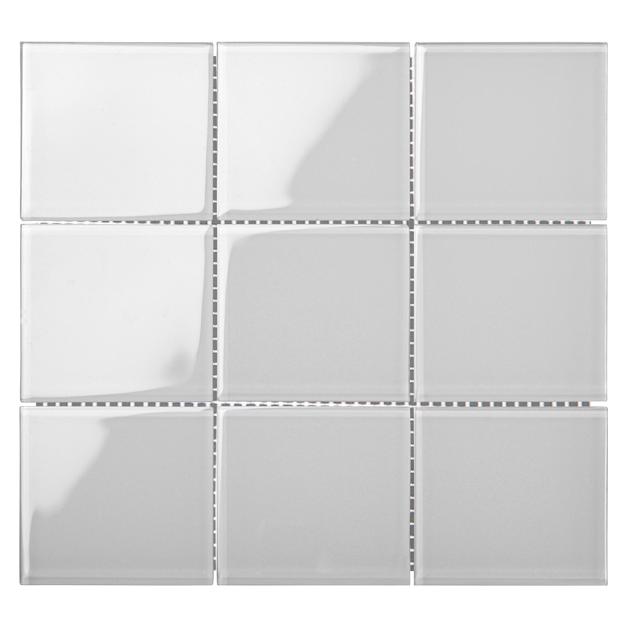 9898CR9042 - Pure White-GLASS TILE